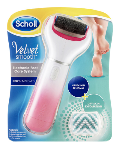 Scholl Velvet Smooth Electronic Foot Care System Pink