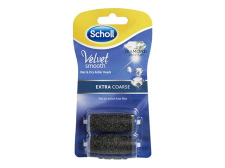 Scholl Velvet Smooth Express Pedi Foot File Extra Coarse Refill
