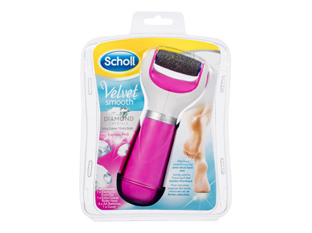 Scholl Velvet Smooth Express Pedi Foot File in Pink
