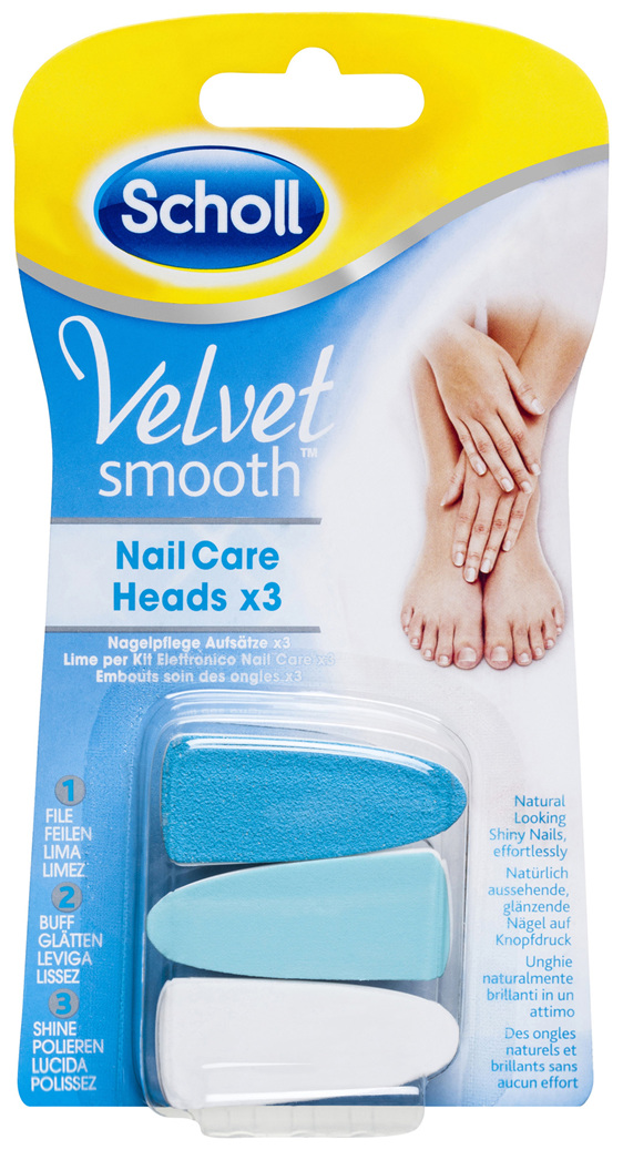 Scholl Velvet Smooth Nail Care Heads Refill x3