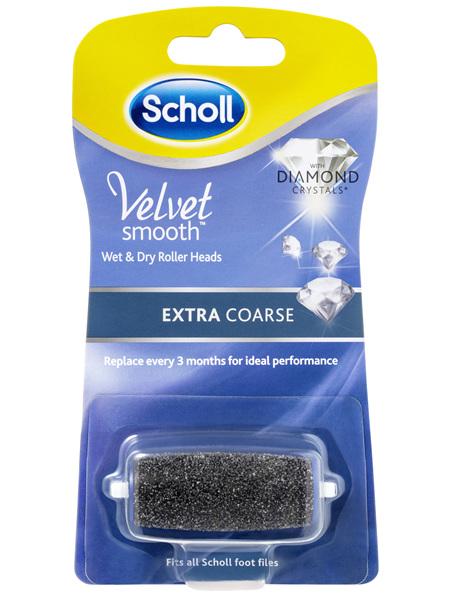 Scholl Velvet Smooth Wet & Dry Roller Heads Extra Coarse