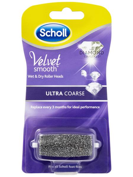 Scholl Velvet Smooth Wet & Dry Roller Heads Ultra Coarse