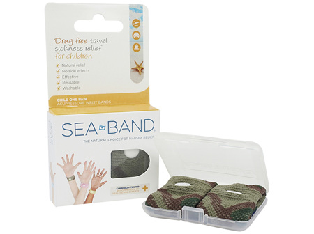 Sea-Band Childs Anti-Nausea Wrist Band Blue Camo