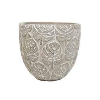 Sefina Monstera Planter - Cement