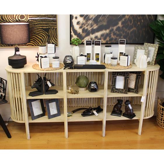 Semi 3 Shelf Sideboard - Natural - 175cm