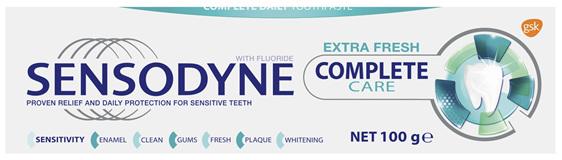 Sensodyne Complete Care Extra Fresh, Sensitive Toothpaste, 100g