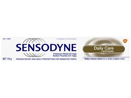 Sensodyne Daily Care + Whitening, Sensitive Toothpaste, 110g