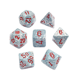 Set 7 Polyhedral Air Speckled Dice Games and Hobbies NZ New Zealand