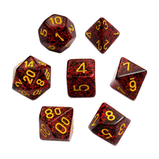 7 'Mercury' Speckled Dice