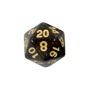 Set of 7 Amber with Gold Starlight Polyhedral Dice Games and Hobbies NZ