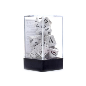 Set of 7 Arctic Camo Speckled Polyhedral Dice Games and Hobbies New Zealand NZ