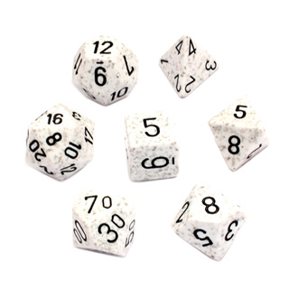 7 'Arctic Camo' Speckled Dice