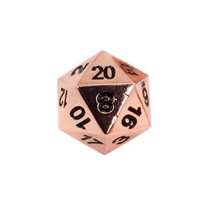 Set of 7 Copper Classic Metal Polyhedral Dice Games and Hobbies New Zealand NZ