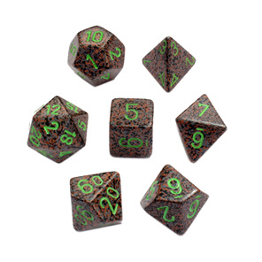 Set of 7 Earth Speckled Polyhedral Dice Games and Hobbies New Zealand NZ