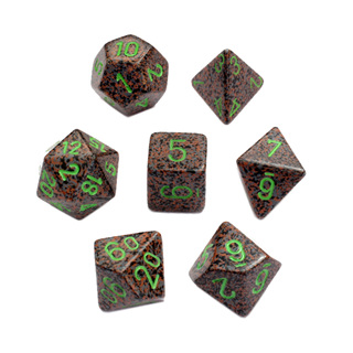 7 'Earth' Speckled Dice