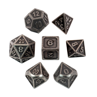 7 'Iron' Modern Metal Dice