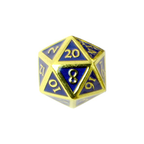Set of 7 Gold Metal Vintage Polyhedral Dice Games and Hobbies NZ
