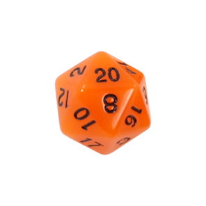 Set of 7 Orange Glow in the Dark Polyhedral Dice with Black Games and Hobbies NZ