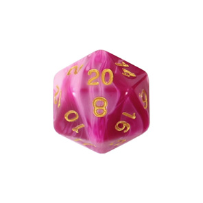 Set of 7 Pink  & Purple Fusion Polyhedral Dice Games and Hobbies New Zealand