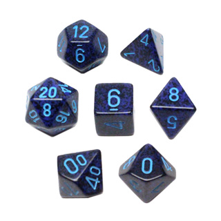 7 'Cobalt' Speckled Dice
