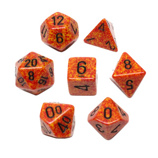 7 'Fire' Speckled Dice
