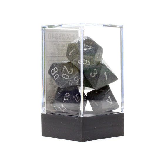 Set of 7 Polyhedral Hi-Tech Speckled Dice Games and Hobbies NZ New Zealand