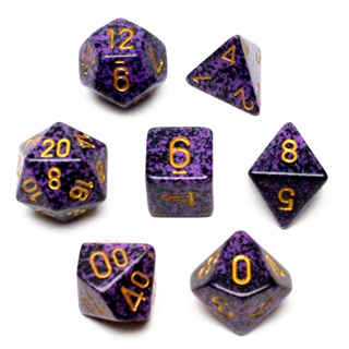 7 'Hurricane' Speckled Dice