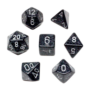 7 'Ninja' Speckled Dice