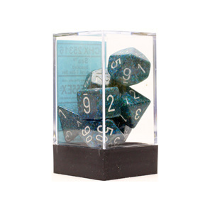 Set of 7 Polyhedral Sea Speckled Dice Games and Hobbies NZ New Zealand