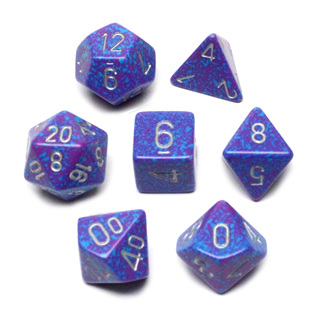 7 'Silver Tetra' Speckled Dice