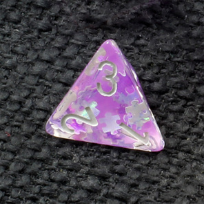 Set of 7 Purple Jigsaw Confetti Polyhedral Dice Games and Hobbies NZ
