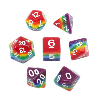 7 Rainbow with White Dice