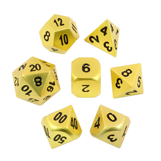 7 'Satin Gold' Classic Metal Dice