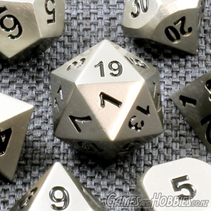 Set of 7 Steel Metal Polyhedral Dice Games and Hobbies New Zealand NZ