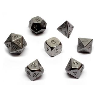 7 'Iron' Metal Polyhedral Dice