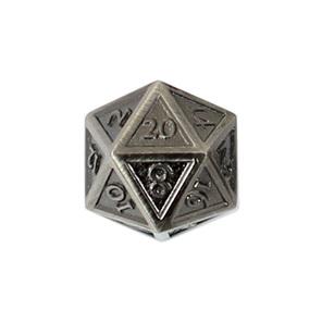 Set of 7 Steel Vintage Metal Polyhedral Dice Games and Hobbies NZ