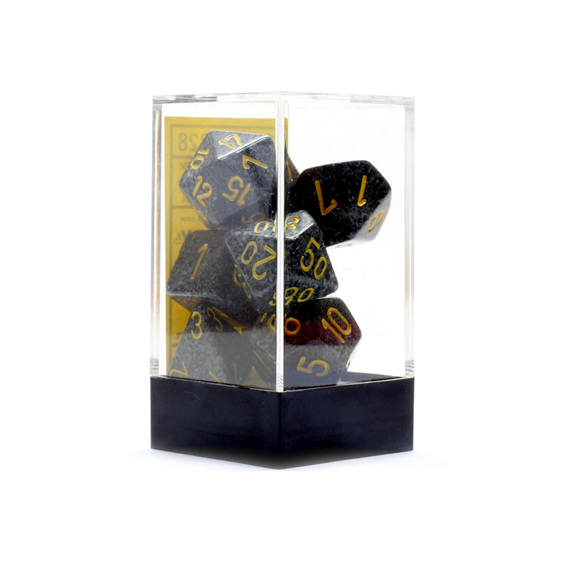 Set of 7 Urban Camo Speckled Polyhedral Dice Games and Hobbies New Zealand NZ