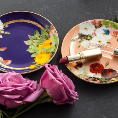 Seven Sisters Floral Appetizer Plate Set of 4