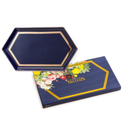 Seven Sisters Navy Hex Tray