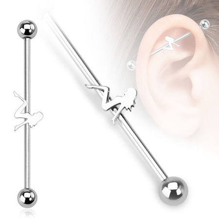 Sexy Girl Industrial Barbell