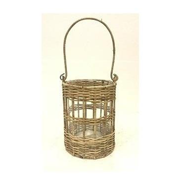 Shaila Cane Weaved Lantern H16cm