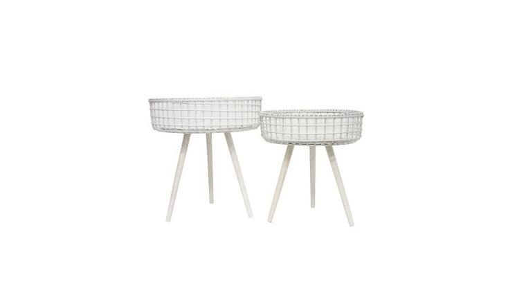 Shanti White Bamboo Table