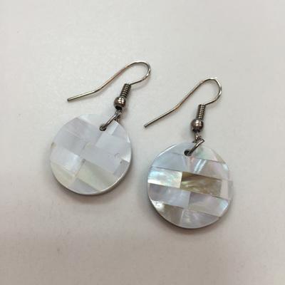 Shell Laid Earrings - M.O.P