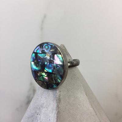 Shell Mosaic Ring - Paua