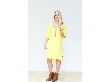 SHIFT FRILLED SLEEVE YELLOW SIZE 14