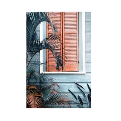 Shutters Tempered Glass Print - Champagne Frame