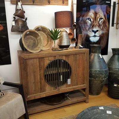 Sideboard w 2 Doors - Old Pine & Iron