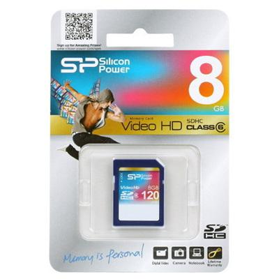 SILICON POWER 8GB CLASS 10 SD CARD