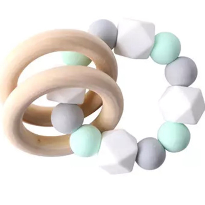 Silicone Geo Teether - Icy Mint