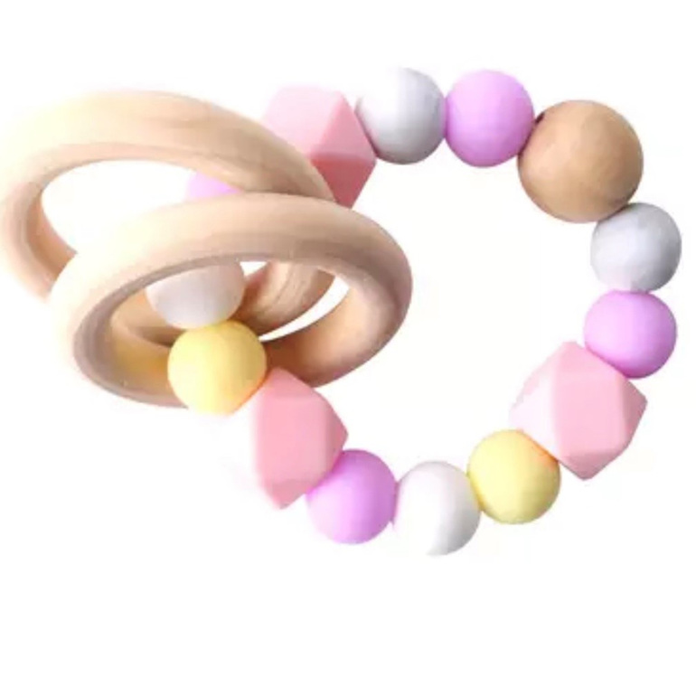 Silicone Geo Teether - Sorbet